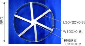 サトプレ人通孔用補強金物 補強材